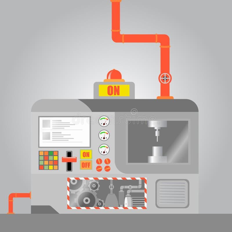 Maquinaria do CNC ilustração royalty free