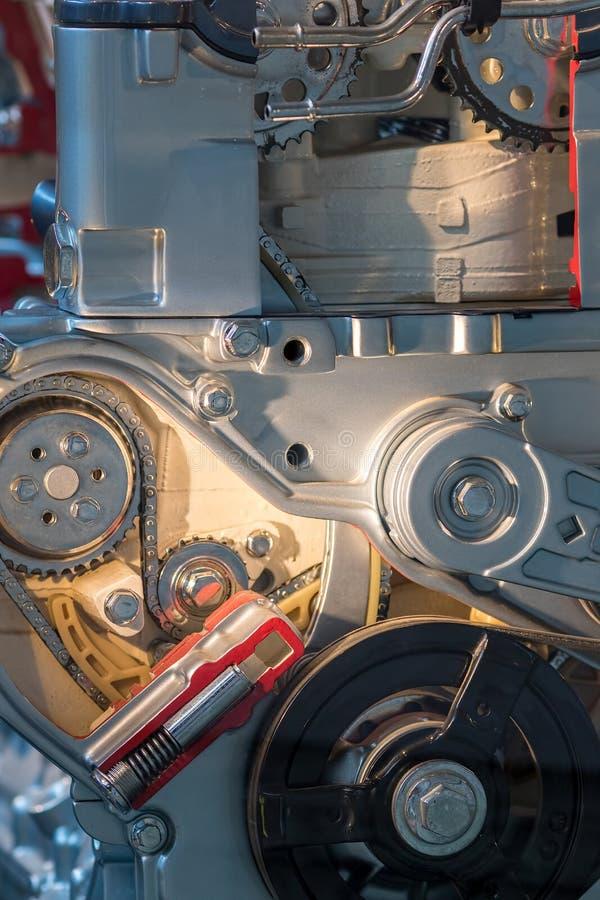 Maquinaria e engenharia Backgrou do sumário da disposição das peças de motor fotos de stock