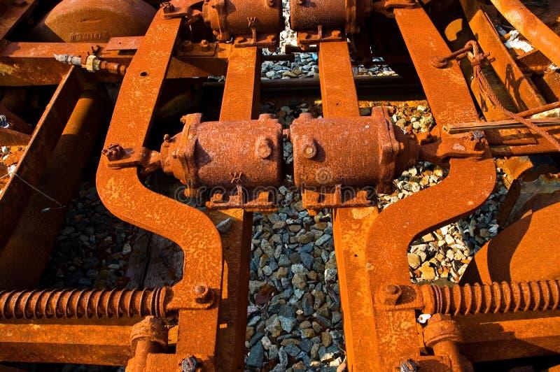 Maquinaria oxidada fotografia de stock