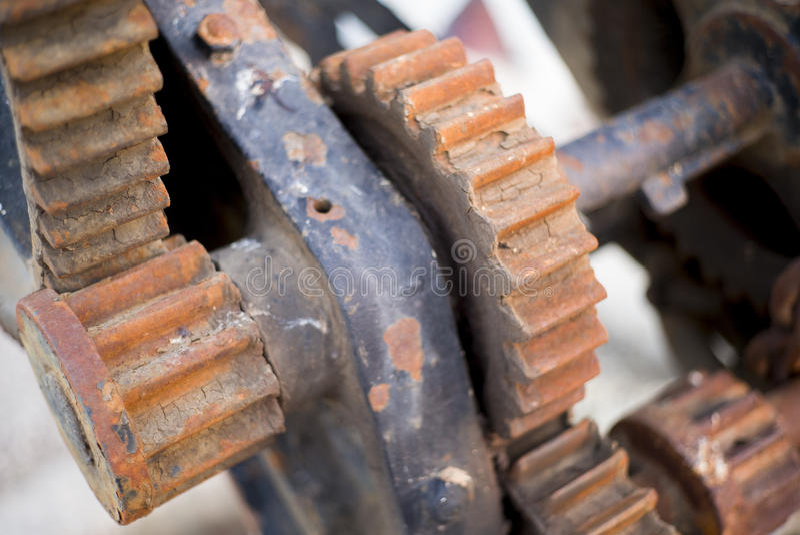 Maquinaria oxidada vieja fotos de archivo libres de regalías