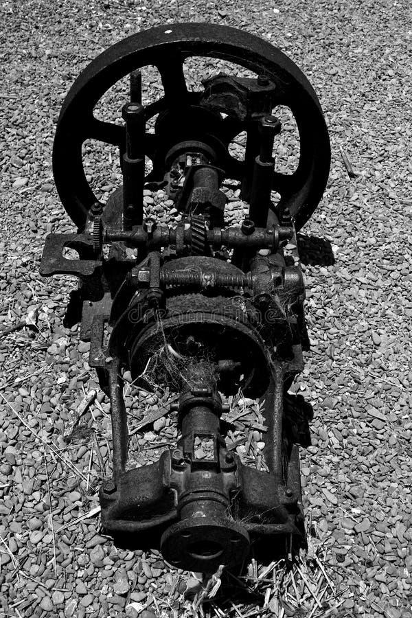 Maquinaria vieja oxidada foto de archivo