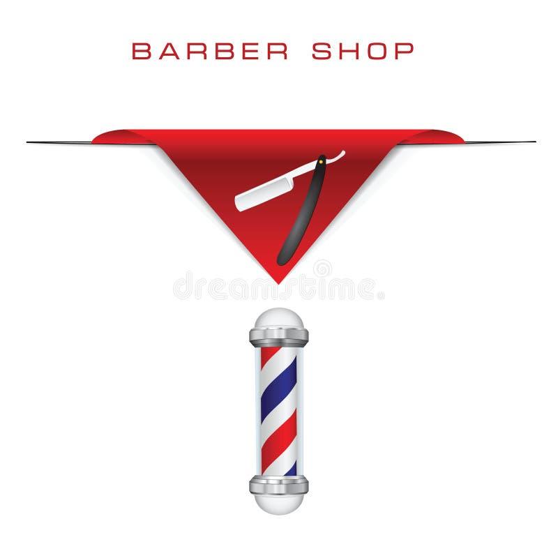 Maquinilla de afeitar del viejo estilo del peluquero stock de ilustración