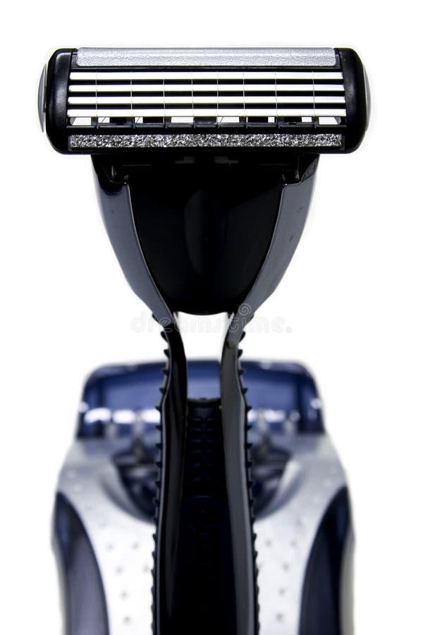 Maquinilla de afeitar derecha imagenes de archivo