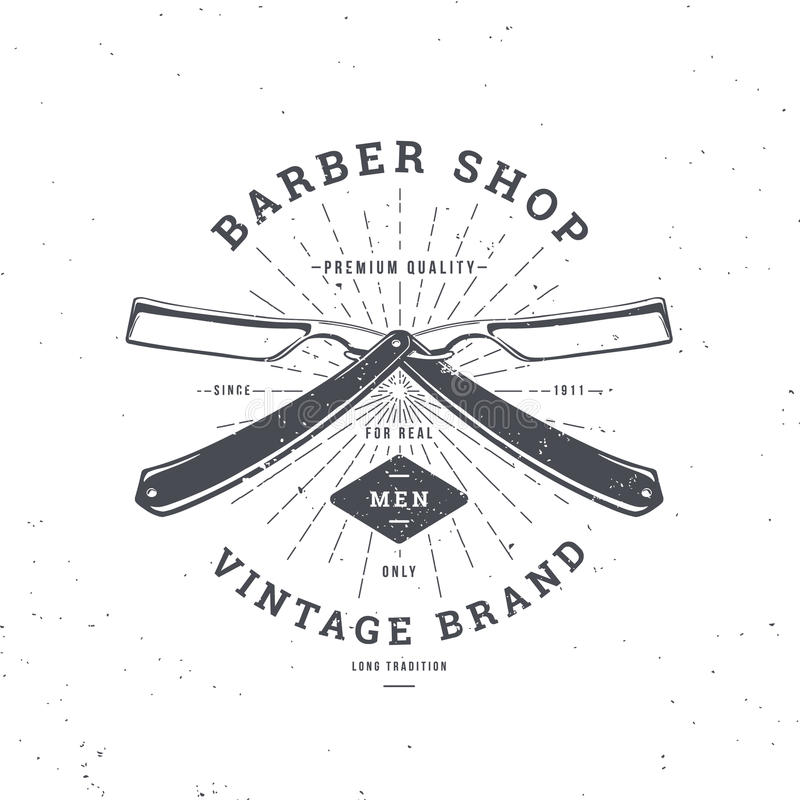 Maquinilla de afeitar doble de la peluquería de caballeros libre illustration