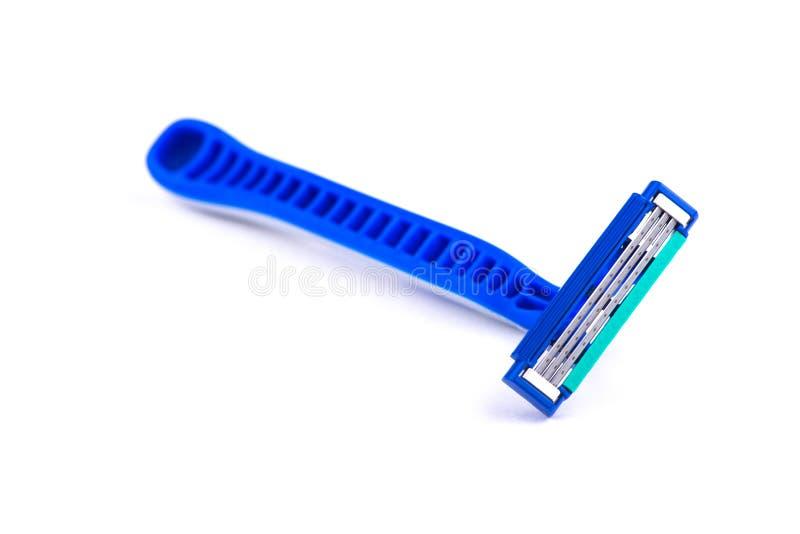 Maquinilla de afeitar en el fondo blanco Máquina para afeitar imagen de archivo libre de regalías