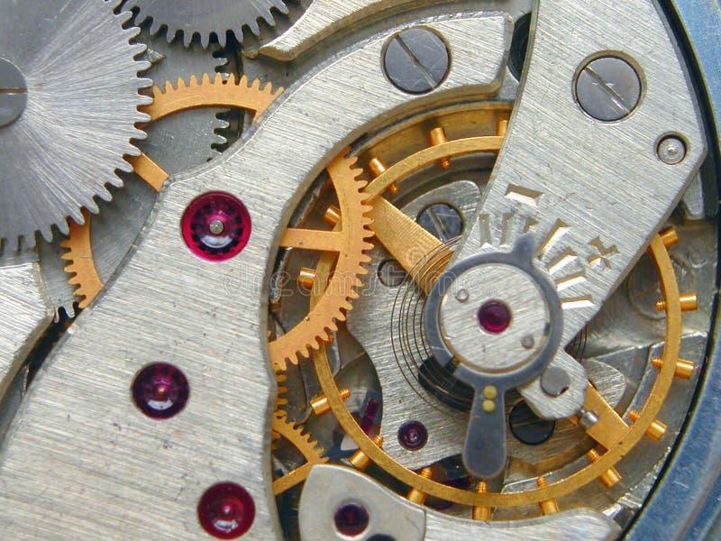 Maquinismo de relojoaria foto de stock