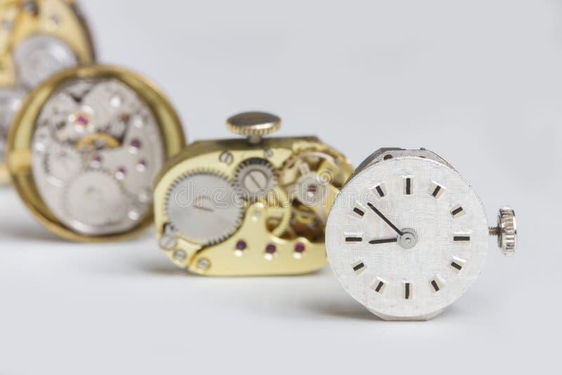 Maquinismo de relojoaria do relógio de bolso imagens de stock royalty free