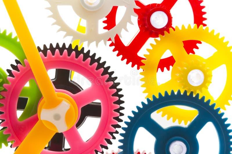 Maquinismo de relojoaria multicolorido imagens de stock