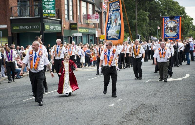 Março alaranjado 2010, Belfast fotos de stock royalty free