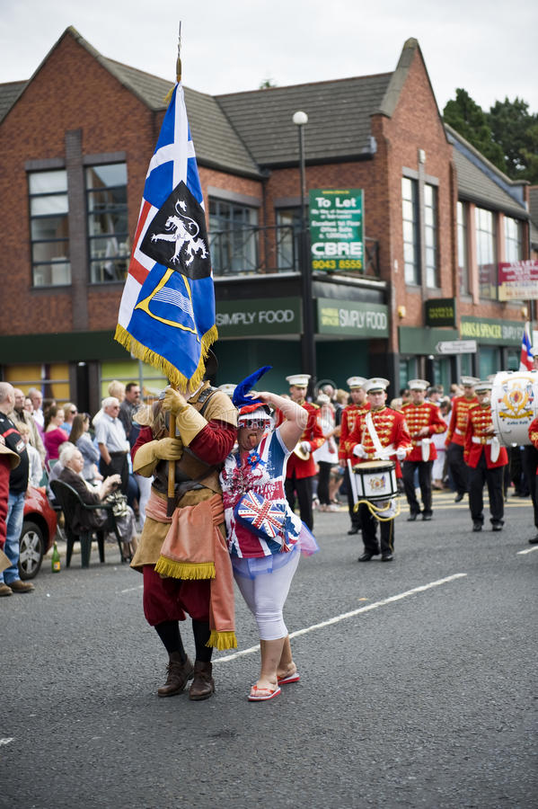 Março alaranjado 2010, Belfast imagens de stock royalty free