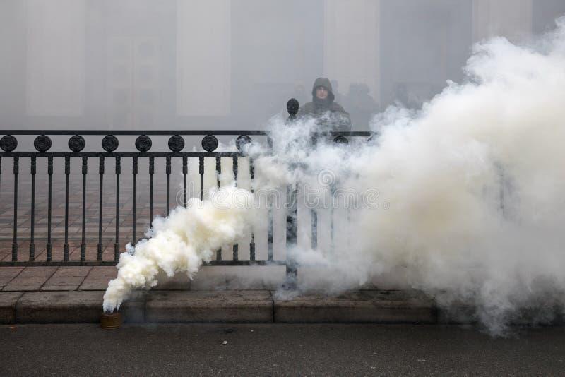 março da dignidade nacional em Kiev, Ucrânia fotos de stock