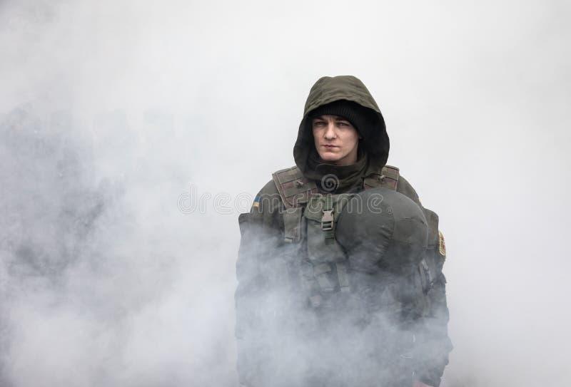 março da dignidade nacional em Kiev, Ucrânia imagem de stock royalty free