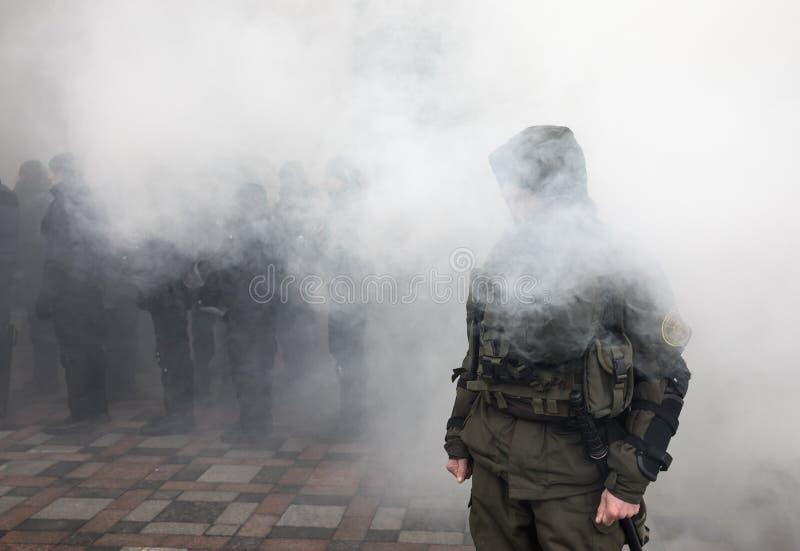 março da dignidade nacional em Kiev, Ucrânia foto de stock royalty free