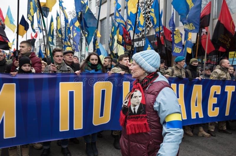 março da dignidade nacional em Kyiv foto de stock