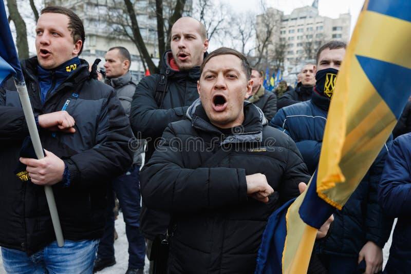 março da dignidade nacional em Kyiv imagens de stock royalty free