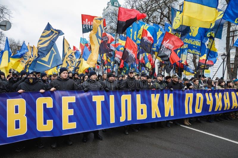 março da dignidade nacional em Kyiv imagem de stock royalty free