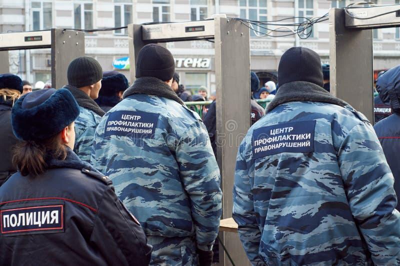 março da memória do político massacrado Boris Nemtsov imagem de stock