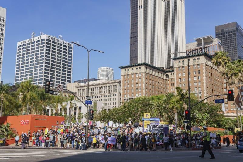março para o LA da ciência fotos de stock