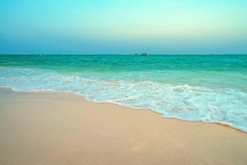 Maré baixa na praia tropical imagens de stock