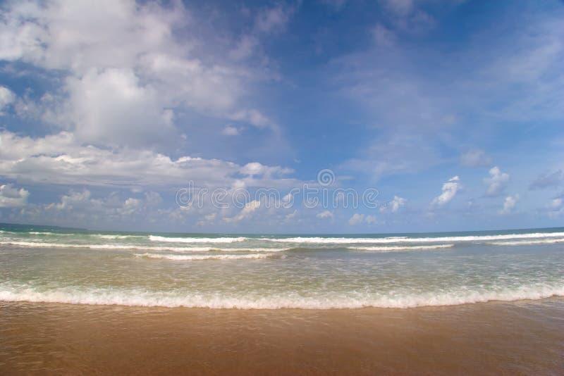 Maré da praia tropical fotografia de stock