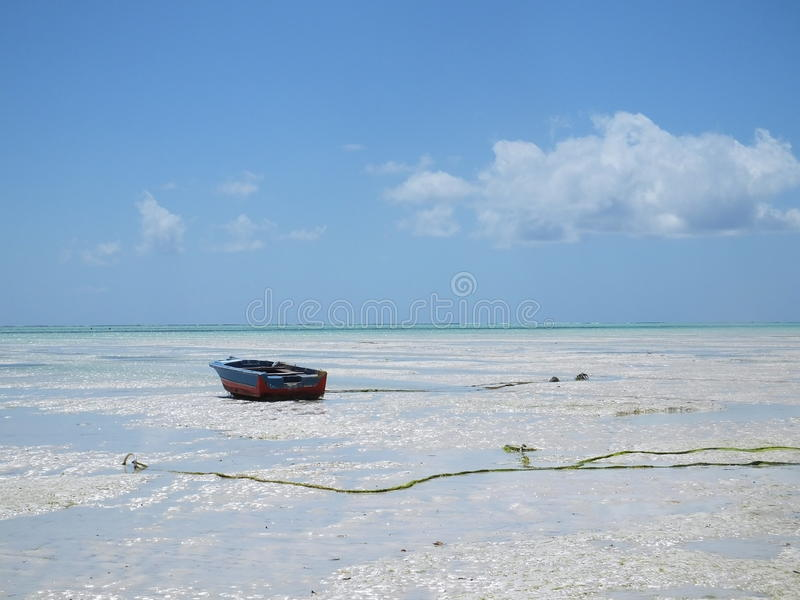 Marée basse chez Paje, Zanzibar image stock