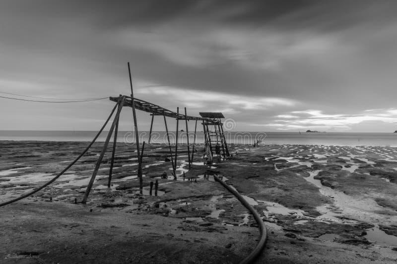 marée inférieure d'effet photographie stock