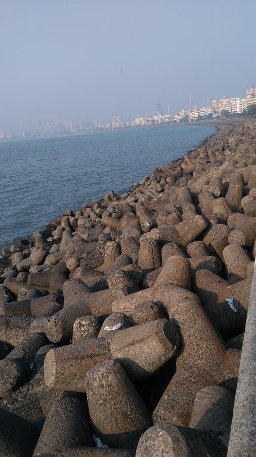 Marín alinha Mumbai ou pode dizer a colar da Índia fotos de stock royalty free