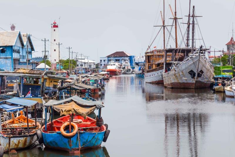 Marítimo em Semarang Indonésia imagens de stock