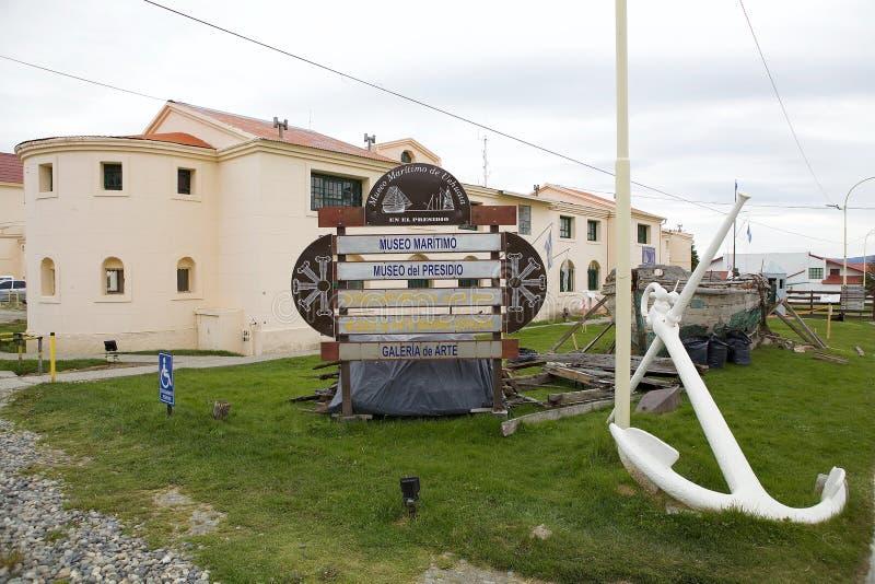 Marítimo, prisión y museo antártico en Ushuaia, la Argentina fotos de archivo