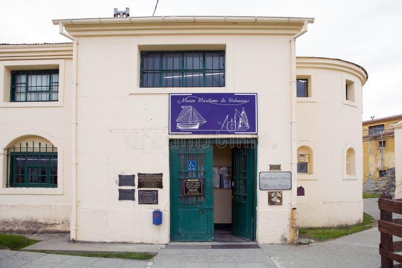Marítimo, prisión y museo antártico en Ushuaia, la Argentina fotografía de archivo