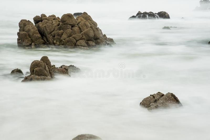 Mar áspero foto de stock