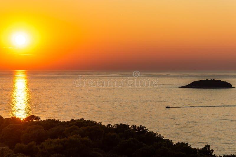 Mar adriático Croacia de Vrsar Istria foto de archivo