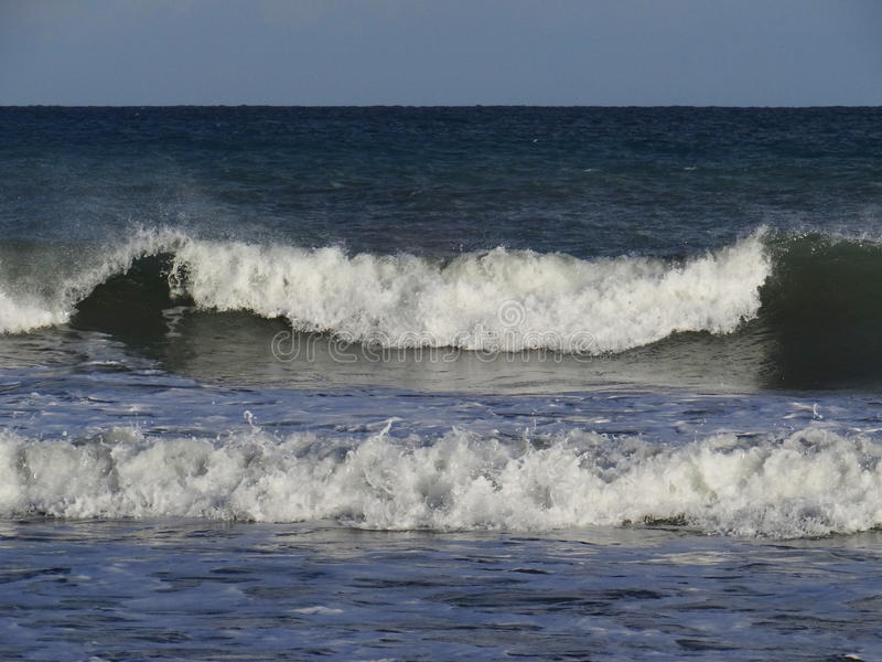 Mar agitado fotos de archivo