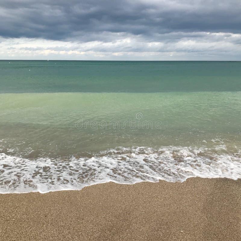 Mar após a tempestade foto de stock