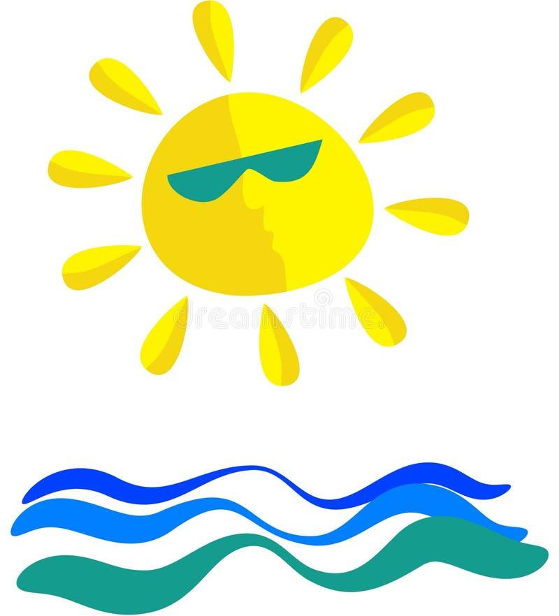 Mar asoleado libre illustration