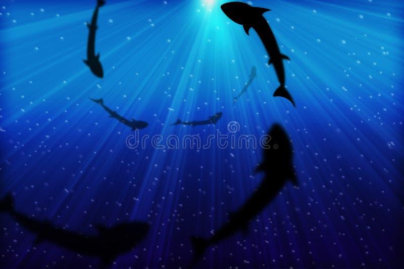 Mar azul profundo ilustração do vetor