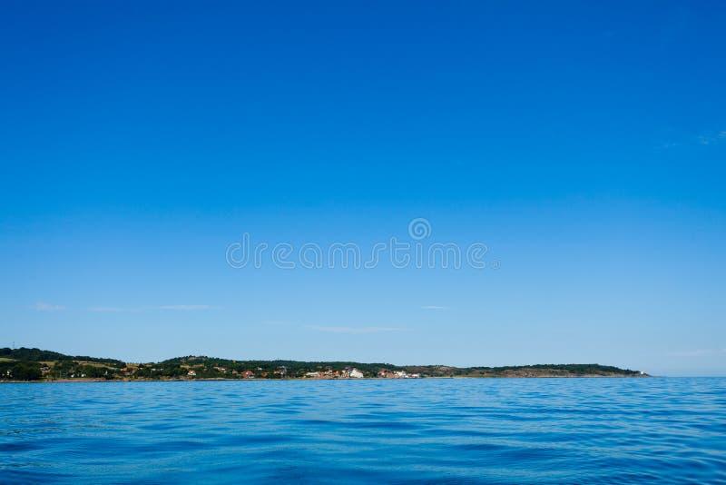 Mar Báltico Denma de Christiansoe Bornholm del fuerte de la isla fotografía de archivo