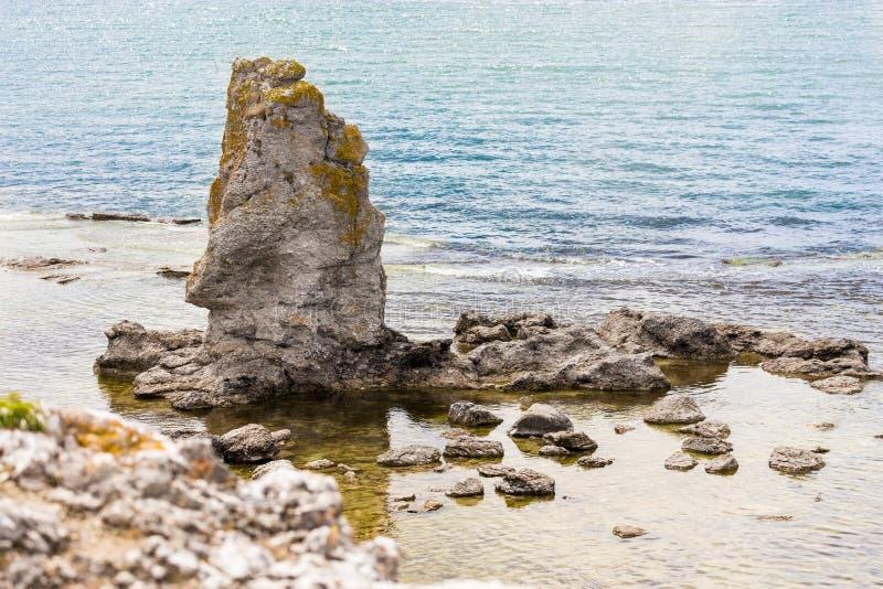 Mar Báltico, Faro, Gotland, Suecia fotos de archivo libres de regalías