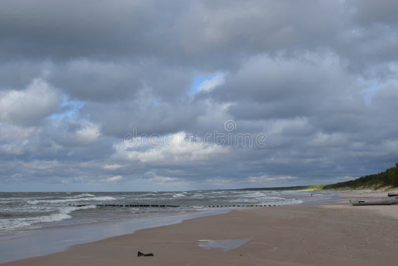 Mar Báltico, Latvia imagen de archivo