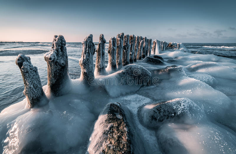 Mar Báltico no inverno foto de stock