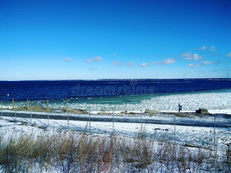 Mar Baltico calmo e freddo fotografie stock libere da diritti