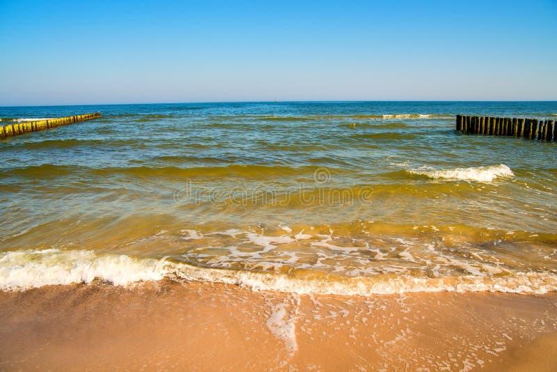Mar Baltico con gli inguini e la spuma immagini stock libere da diritti