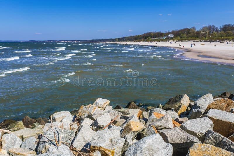 Mar Baltico in Polonia fotografie stock libere da diritti
