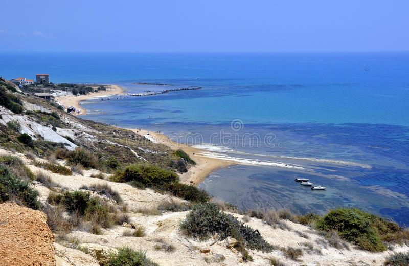 Mar bonito em Sicília fotografia de stock royalty free
