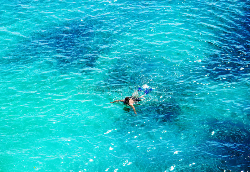 Mar bonito Vista superior fotografia de stock royalty free