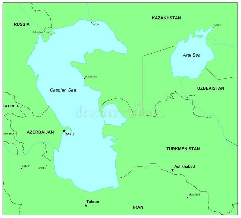 Mar Cáspio ilustração do vetor