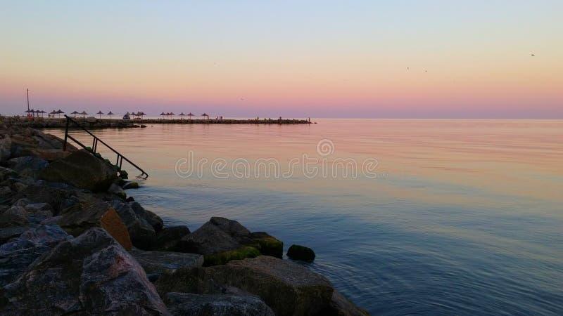 Mar calmo foto de stock