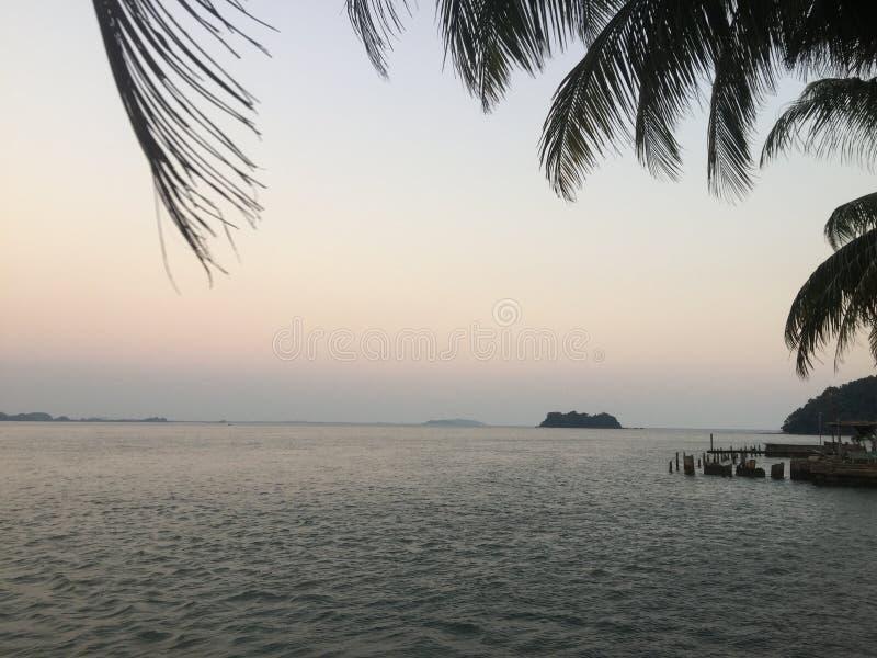 MAR CHANTABURI TAILÂNDIA imagem de stock