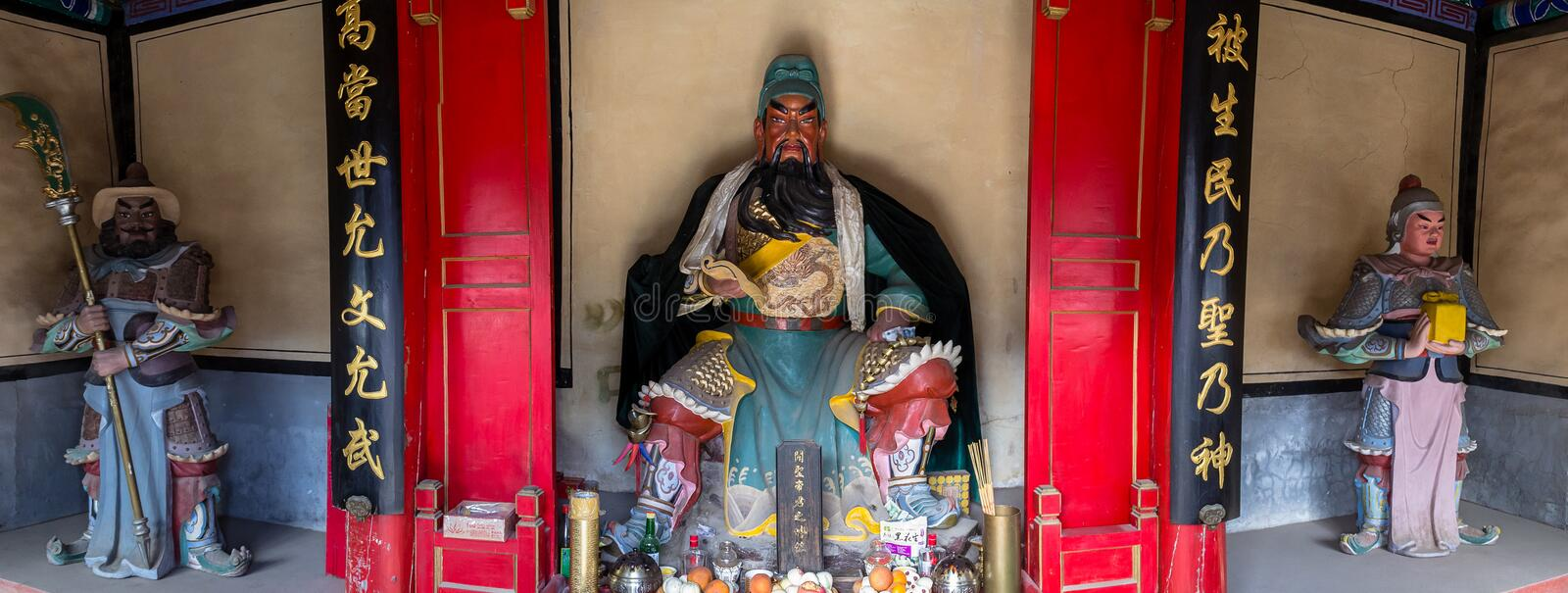 Mar 2014, Chuandixia, Hebei, China : the interior of Guandi temple royalty free stock images