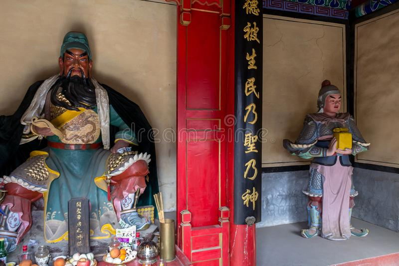 Mar 2014, Chuandixia, Hebei, China: the interior of Guandi temple stock images